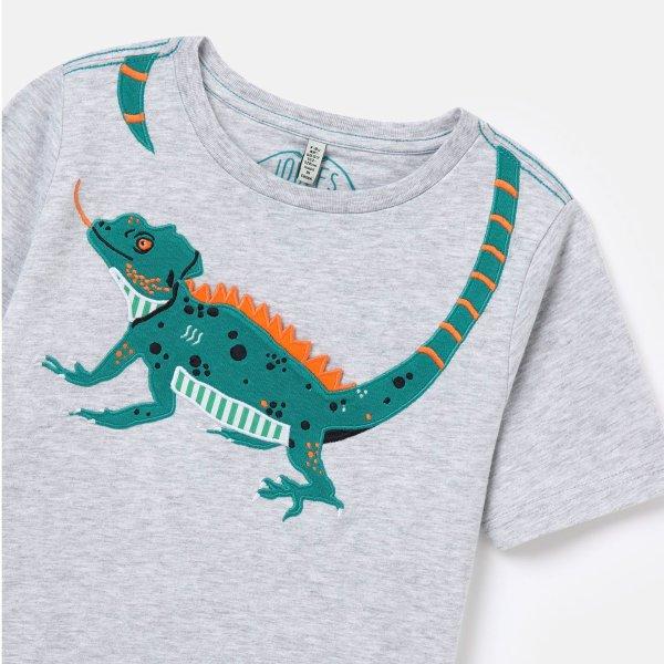 儿童贴布绣蜥蜴T恤