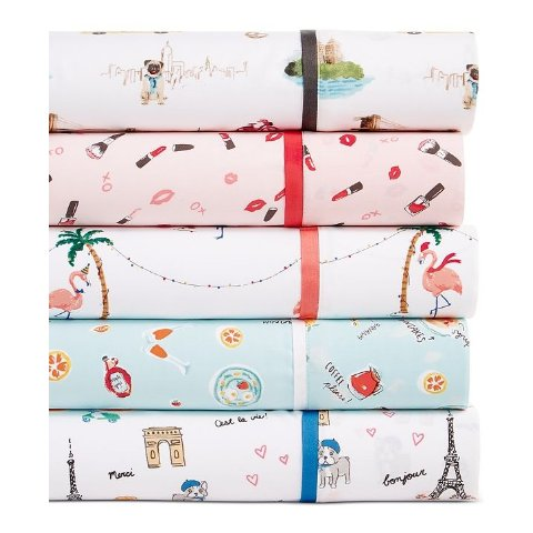 Novelty Print Twin 3-Pc Sheet Set, 250 Thread Count 100% Cotton, Created for Macy's