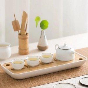 LIFEASE茶具和排水托盤套裝