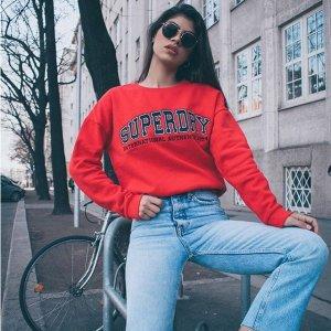 8折+免邮Superdry 全场卫衣热卖 好价感受街头潮流范