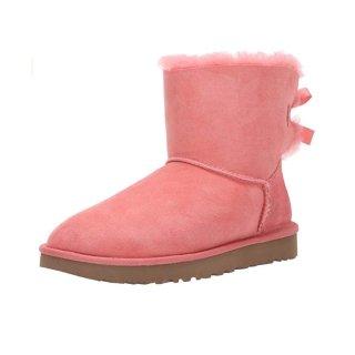 $54.3(原价$150) 6码UGG 橘粉色蝴蝶结雪地靴