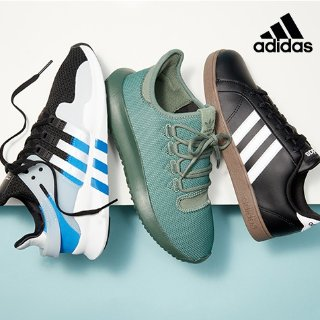 $7.97起adidas 儿童运动服饰和鞋履促销 妹纸可收大童款