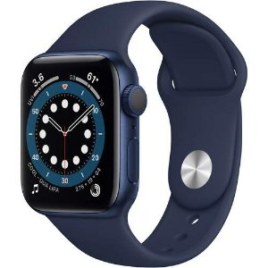 Apple Watch Series 6 40mm GPS Blue Aluminium Case with Deep Navy Sports Band