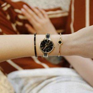 $99.99 (原价$119.99)  黑白两色MAMONA 精致小众时尚腕表+手镯 3件套装