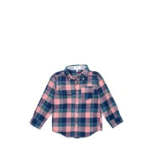 Crown & Ivy™Toddler Boys One Pocket Long Sleeve Woven Shirt