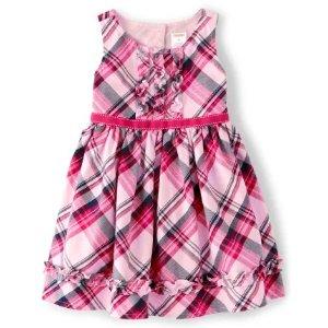GymboreeGirls Sleeveless Plaid Twill Dress - Preppy Puppy