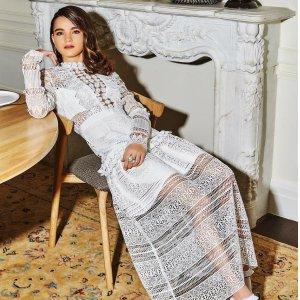 最高67折 £400收两件连衣裙Self-Portrait 精选美裙热卖 仙女必备蕾丝裙