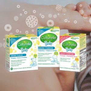 Up to 25% off + extra 5% offCulturelle Kids & Baby Daily Probiotic Packets Dietary Supplements @ Amazon