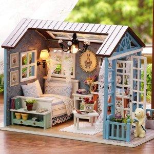 现价$20.99(原价$24.99)Decdeal 迷你娃娃屋 DIY手工套装 送给闺蜜走心的礼物
