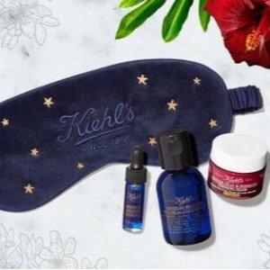 送睡眠眼罩+夜间护理3件套Kiehl's官网 全场护肤热卖 收高保湿面霜、节日倒数日历