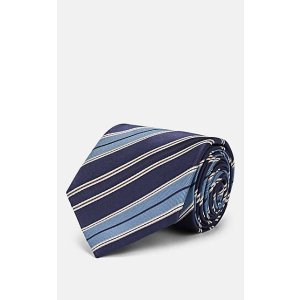 BrioniMulti-Striped Silk Twill Necktie