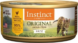Instinct by Nature's Variety Original Grain-Free Real Chicken Recipe Natural Wet Canned Cat Food, 5.5-oz, case of 12 - Chewy.com