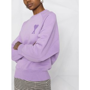 Ami到手价无税!码全,SS售价$520女款香芋紫卫衣