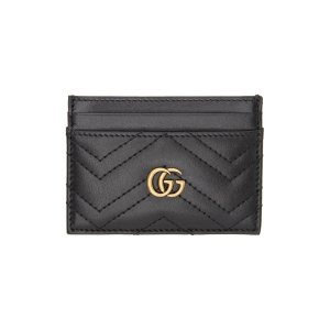 Gucci美国定价$250黑色卡包