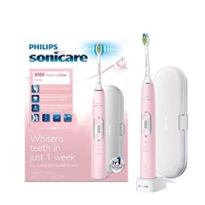 From $69.99 Philips Sonicare ProtectiveClean 6100 Whitening Rechargeable electric toothbrush with pressure sensor and intensity settings, White HX6877/21