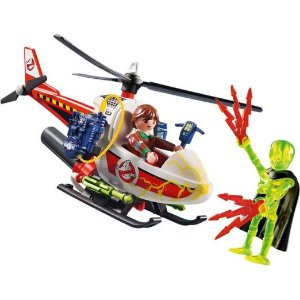 Playmobil直升机积木