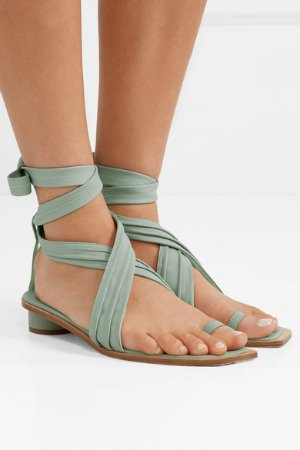Tibi | Miles leather sandals | NET-A-PORTER.COM