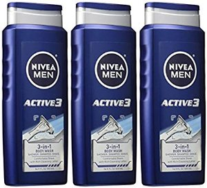 $8.08NIVEA Men Active3 3-in-1 Body Wash 16.9 Fluid Ounce (Pack of 3)