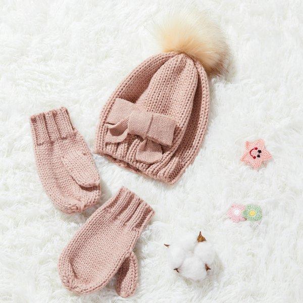 针织帽+手套