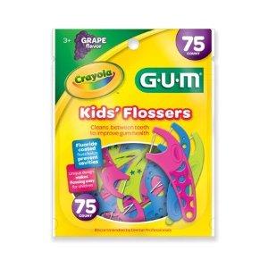 GUM Crayola Kids' Flossers, 75 ct