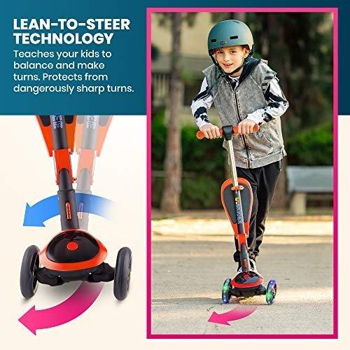 2合1可折叠儿童滑板车