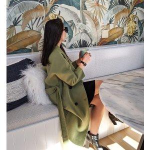 Boss Girl 双排扣羊毛大衣