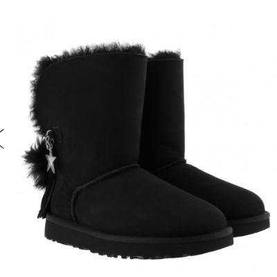 今日特惠4折 UGG新款星星时髦黑色雪地靴