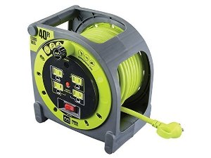 MasterPlug Heavy Duty Extension Cord Reel 60 ft