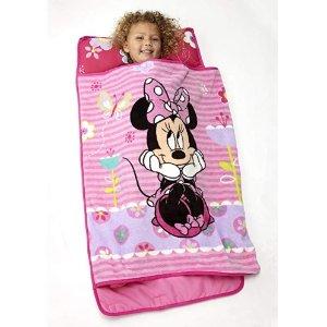 $16.99起 适合幼儿园午睡Disney 迪斯尼 Minnie 米妮儿童午睡床品套装,卷起收纳