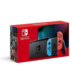 直邮美国到手价$294.6日亚黑五好价 Nintendo Switch 全新续航增强版 红蓝配色