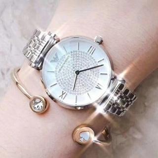 银色¥879 金色¥999ARMANI 满天星系列 珍珠贝母石英女士手表