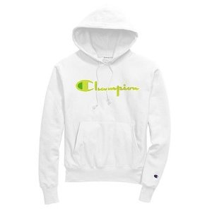 ChampionExclusive Champion Life® Men's Reverse Weave® Pullover Hoodie, Neon Green Chenille Logo