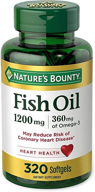 Omega 3鱼油 1200 Mg, 320粒软胶囊