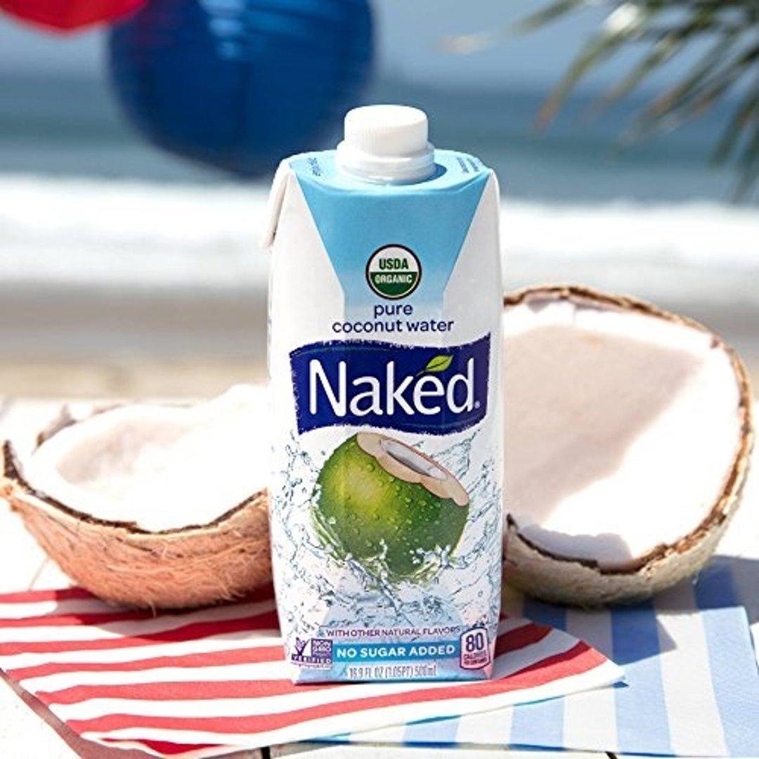 Naked Juice 100%纯天然有机椰子水16.9盎司 12盒