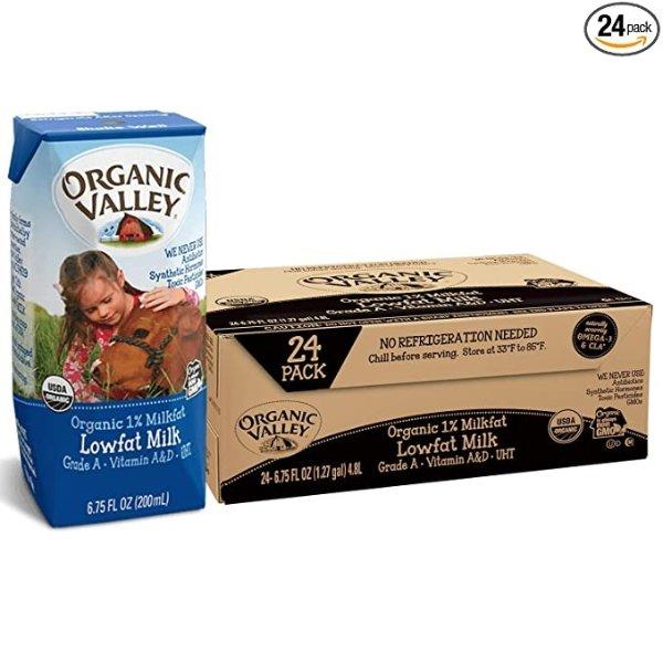 有机1%低脂原味牛奶 24盒装