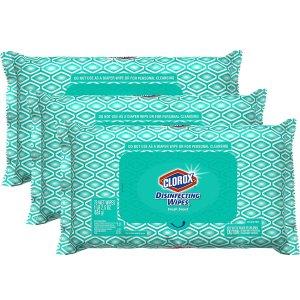 $11.97补货:Clorox 抽取式便携消毒湿巾超值3包装 共225片
