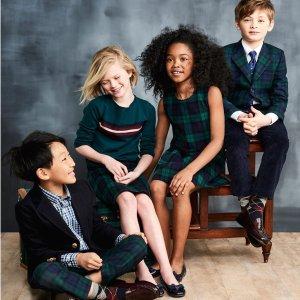 低至3折Brooks Brothers 儿童服饰清仓区优惠 绅士淑女风范尽显