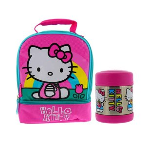 Amazon Thermos Hello Kitty Soft Dual Compartment Lunch Box Kit