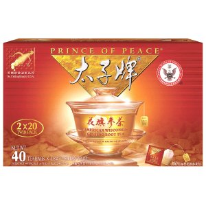 Prince of Peace American Ginseng Root Tea, Twin Pack (2 boxes X 20 bags)