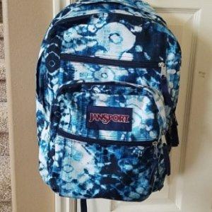 JANSPORT Indigo Shibori Big Student Backpack