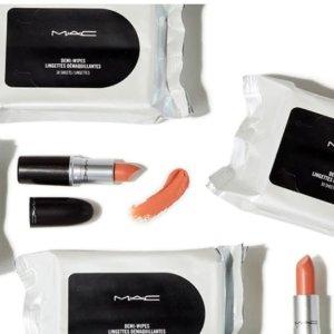 满$70送正装唇膏+卸妆巾+免邮MAC Cosmetics 母亲节全场满额送正装