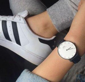 $104.68(原价$230)Daniel Wellington 0951DW 黑色皮带女士腕表