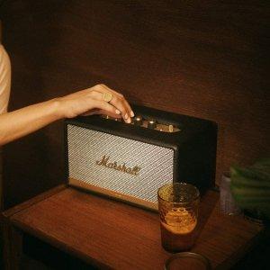 折后€222 颜值在线Marshall Acton II 复古无线智能音箱热促 放家里格调满满