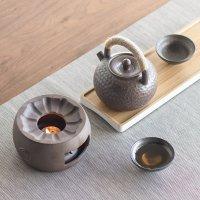 南山先生 【自营】南山先生 日式复古陶瓷酒精温茶炉玻璃茶壶蜡烛加热底座