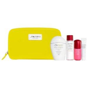 Shiseido价值$104白胖子防晒超值套装