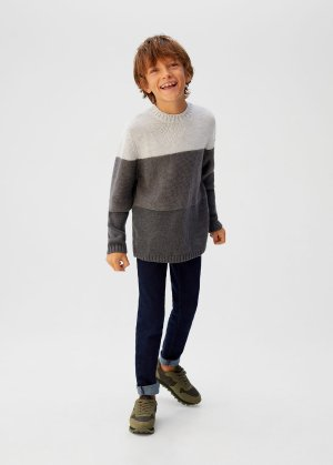 Tricolor knit sweater -  Boys | Mango Kids USA