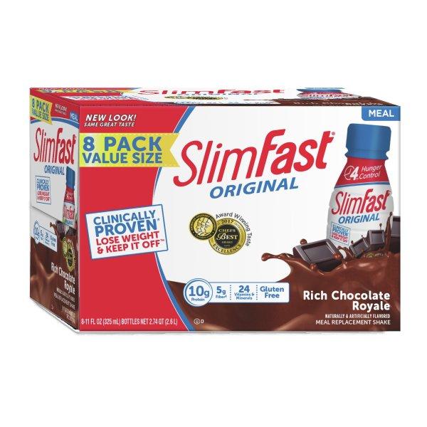 高蛋白巧克力奶昔 8支装, 11 fl. oz