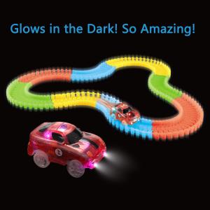 特价$16.99(原价$27.99)闪购:Mibote 夜光赛车道+LED电动赛车套装