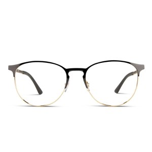 Ray-Ban黑金相间细框眼镜