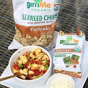 $6.03GimMe Health Foods Organic Roasted Seaweed Snacks Teriyaki Pack of 12